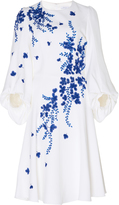 Andrew Gn Floral Embroidered Knee Length Dress