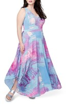 Rachel Roy Plus Size Women's Round Hem Print Maxi Dress