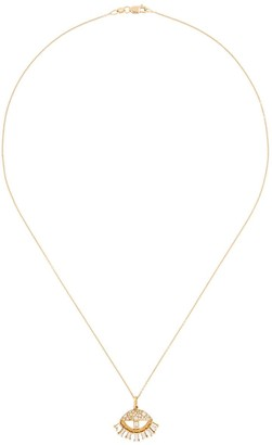 Ileana Makri 18kt yellow gold Baguette Sleepy Eye diamond pendant necklace