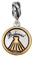 "Individuality Beads Sterling Silver & 14k Gold Over Silver ""Bridesmaid"" Charm"