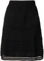 M Missoni layered open embroidery A-line skirt