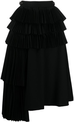 Comme des Garcons Belted High-Waist Draped Skirt