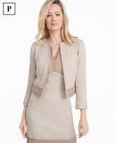 White House Black Market Petite Neutral Tweed Suit Jacket
