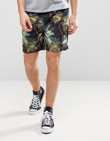 Stussy Shorts With Palm Print