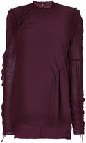 Versace ruched drawstring blouse