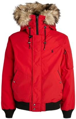 Ralph Lauren Faux Fur-Trim Padded Bomber Jacket