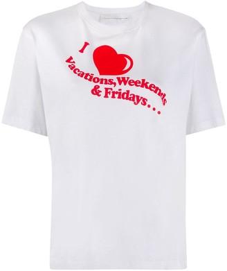 Victoria Victoria Beckham I Heart Weekends print T-shirt