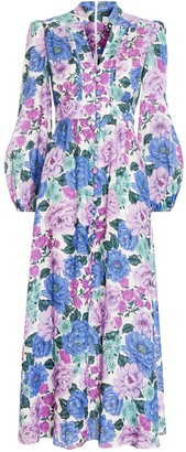 Zimmermann Poppy Plunge Midi Dress