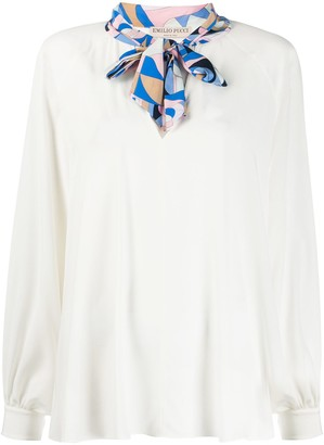 Emilio Pucci Sirens Song bow blouse
