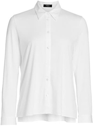 Theory Trapeze Button-Front Shirt