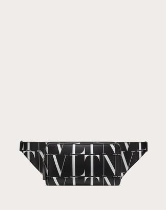 Valentino Garavani Uomo Vltn Times Leather Belt Bag Man Black/white 100% Pelle Bovina - Bos Taurus OneSize