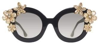 Alice + Olivia Madison Floral Sunglasses
