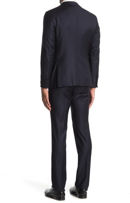 John Varvatos Collection Navy Solid Two Button Notch Lapel Suit