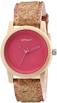 Sprout Unisex ST/5516PKCK Pink Dial Cork Strap Eco-Friendly Watch