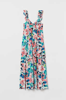 H&M Ruffle-trimmed Dress - Pink