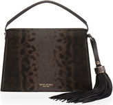 Henri Bendel Premium Lizard Tassel Shoulder Bag