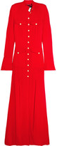Ronald Van Der Kemp - Crepe Gown - Red