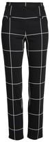 Leith Women's Windowpane Print Skinny Pants