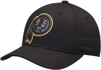 Redskins Outerstuff Youth Black Washington Black & White Structured Adjustable Hat