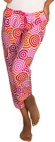 Malabar Bay Pink & Orange Jubilee Organic Cotton Capri Lounge Pants