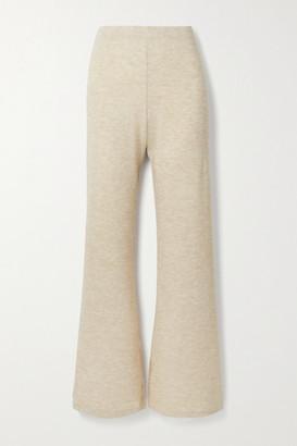 AAIZÉL Melange Knitted Flared Pants - Beige