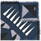 Fendi printed scarf - men - Silk/Wool - One Size