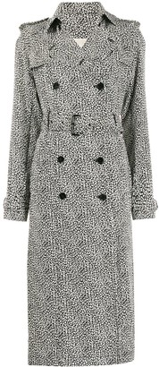 MICHAEL Michael Kors leopard print trench coat
