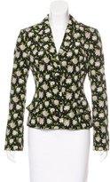 Dolce & Gabbana Silk Floral Print Blazer