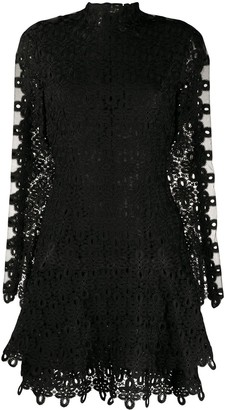 Jonathan Simkhai Lace Embroidered Mini Dress