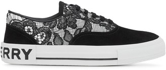 Burberry Lace Panelled Sneakers