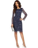 Patra Dress, Long-Sleeve Beaded Sequin