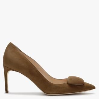 Rupert Sanderson Nada Tan Suede Court Shoes