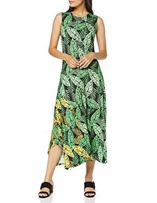 Joe Browns Women's Bright Tropical Leaf Print Jersey Dress Black Multi (Size:UK )
