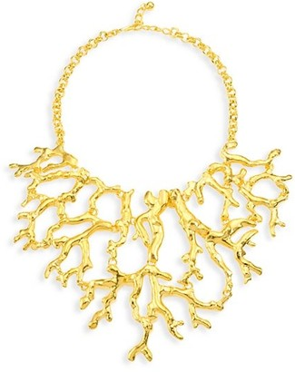 Kenneth Jay Lane Branch Statement Bib Necklace