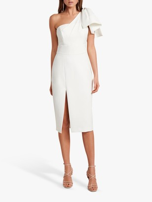 Forever New Bessy Bow Pencil Dress, Porcelain