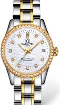 Carnival Women's Automatic Mechanical Analog Watch Chic Rhinestones Dress