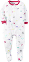 Carter's 1-Pc. Bow-Print Footed Pajamas, Toddler Girls (2T-5T)