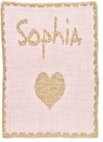Thumbnail for your product : Butterscotch Blankees Single Heart Metallic Crib Blanket, Personalized