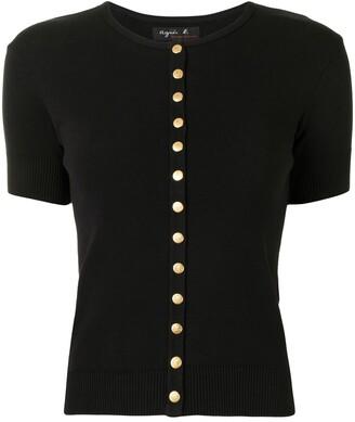 agnès b. Short-Sleeved Cotton Cardigan