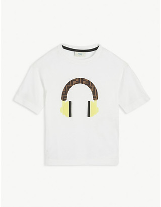 Fendi Graphic-print cotton T-shirt 4-14 years