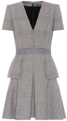 Alexander McQueen Plaid wool dress