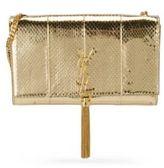 Saint Laurent Kate Monogram Medium Metallic Ayers Tassel Chain Shoulder Bag
