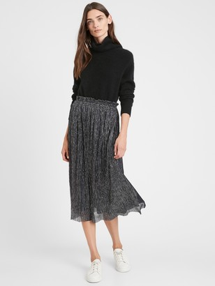 Banana Republic Metallic Midi Skirt