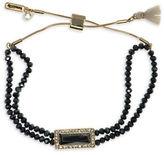Lonna & Lilly Jet Hematite Beaded Goldtone Slider Bracelet