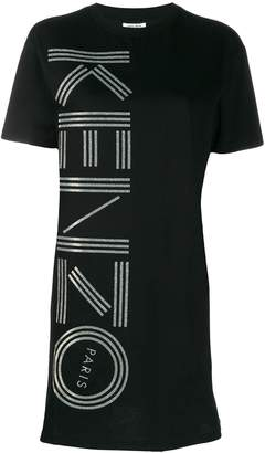 Kenzo logo print T-shirt dress