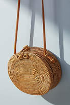 Anthropologie Adventurer Straw Crossbody Bag