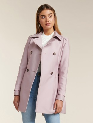 Forever New Helana Trench Coat - Soft Pink - 10