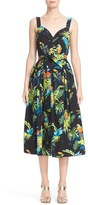 Marc Jacobs Women's Parrot Print Cotton Poplin Dress