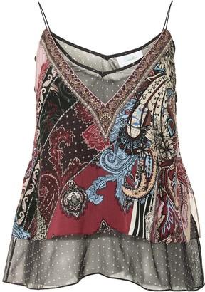 Camilla Layered Paisley Print Vest