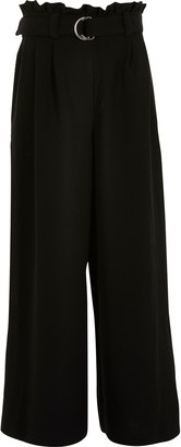 River Island Girls Black belted wide leg trousers